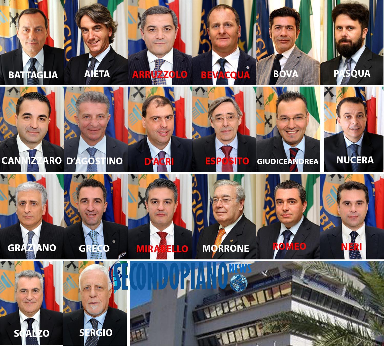 Combo consiglieri regionali calabresi che hanno sottoscritto la proposta di legge per il Vitalizio