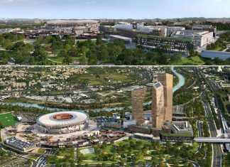 Confronto del progetto Stadio della Roma prima e dopo