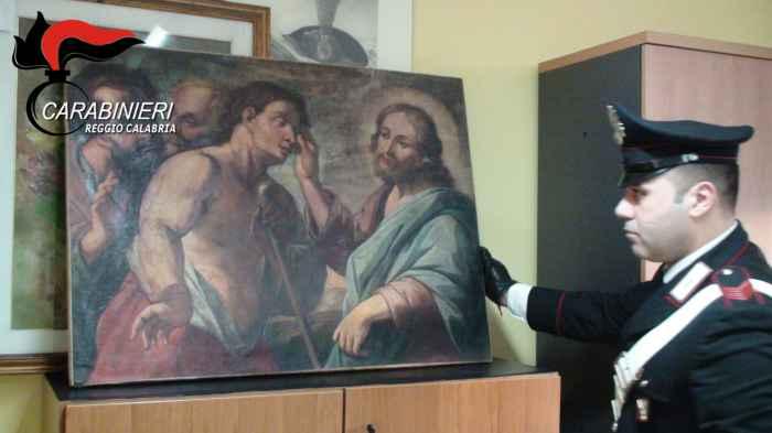 opere arte rubate scoperti messina