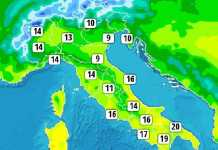 temperature massime 24 feb 2017