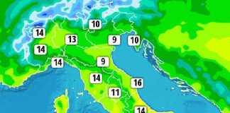 temperature massime 24 feb 2017