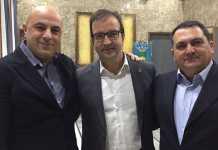 Da sinistra Francesco De Cicco, il sindaco Mario Occhiuto e Michelangelo Spataro