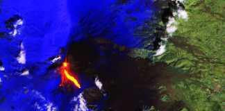 Eruzione Etna dallo Spazio