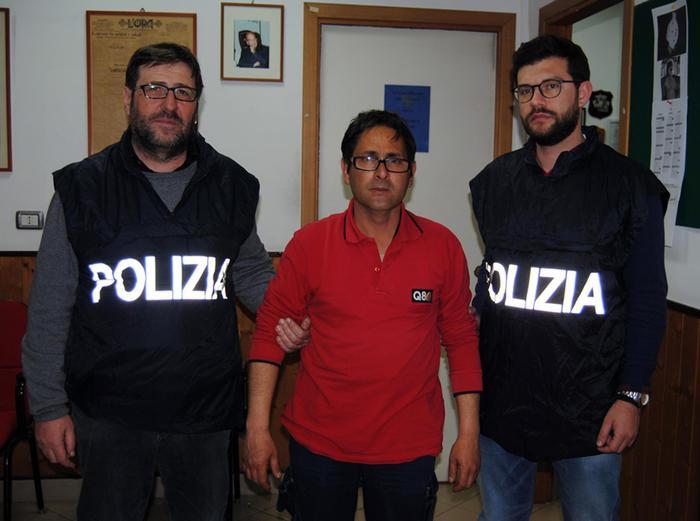 Giuseppe Pecoraro, 45 anni, reo confesso dell'omicidio di Marcello Cimino, il clochard arso vivo a Palermo