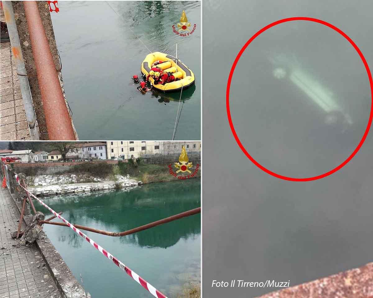 Una sequenza di foto dell'incidente a San Giuliano Terme
