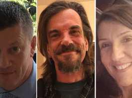 Le vittime dell'attentatore jihadista a Londra Khalid Masood. Da sinistra l'agente Keith Palmer, Kurt Cochran e Aysha Frade