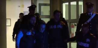 Salvatore Fuscaldo mentre viene condotto in carcere