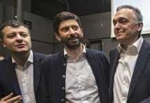 Scotto, Speranza e Rossi di Democratici e Progressisti