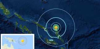Terremoto Isola Salomone 19 marzo 2017