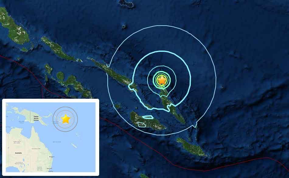 Terremoto magnitudo 6.8 in Oceania, epicentro vicino alle isole Salomone
