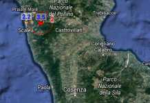 Terremoto Orsomarso Cosenza