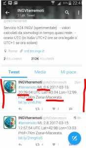 Terremoto a Macerata