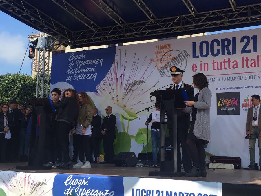 Il comandante generale dei Carabinieri Tullio Del Sette a Locri