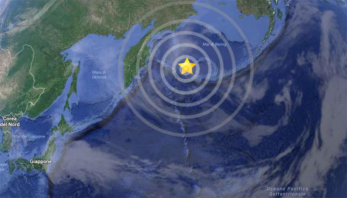 terremoto mare di Bering