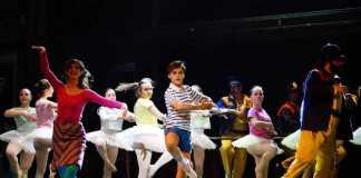 Un momento dello spettacolo Billy Elliot
