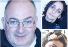 Da sinistra Francesco Marfisi, in alto le vittime di Ortona Letizia Primiterra (moglie) Laura Pezzella (amica)