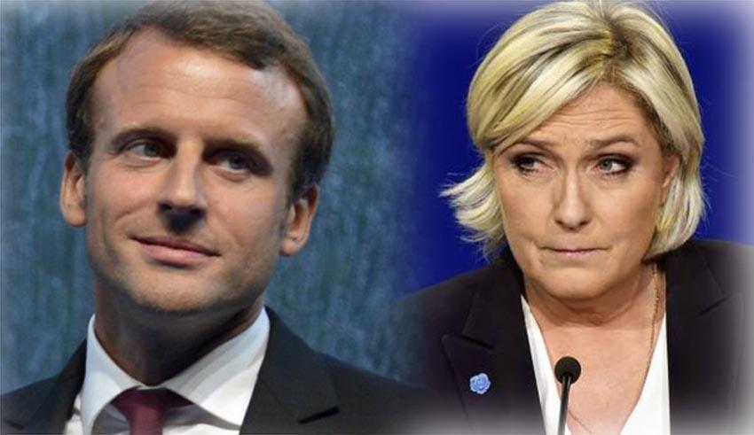 Macron e Le Pen, i due sfidanti per l'Eliseo