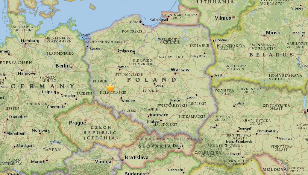 Terremoto in Polonia