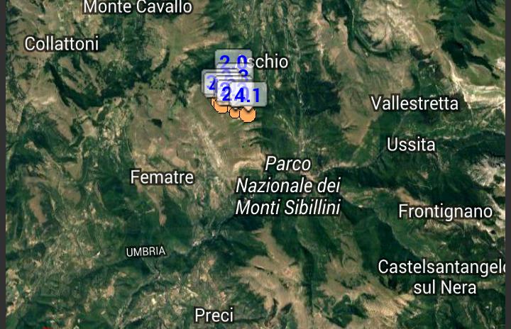 Terremoto, nuove scosse 4 e 4,1 nel maceratese