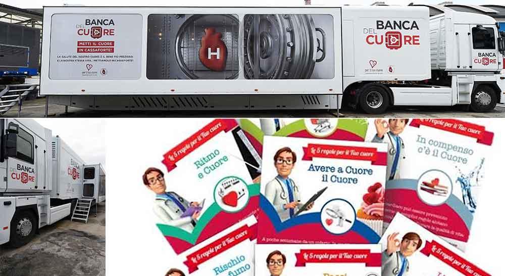Prevenzione cardiovascolare Truck Tour Banca del Cuore
