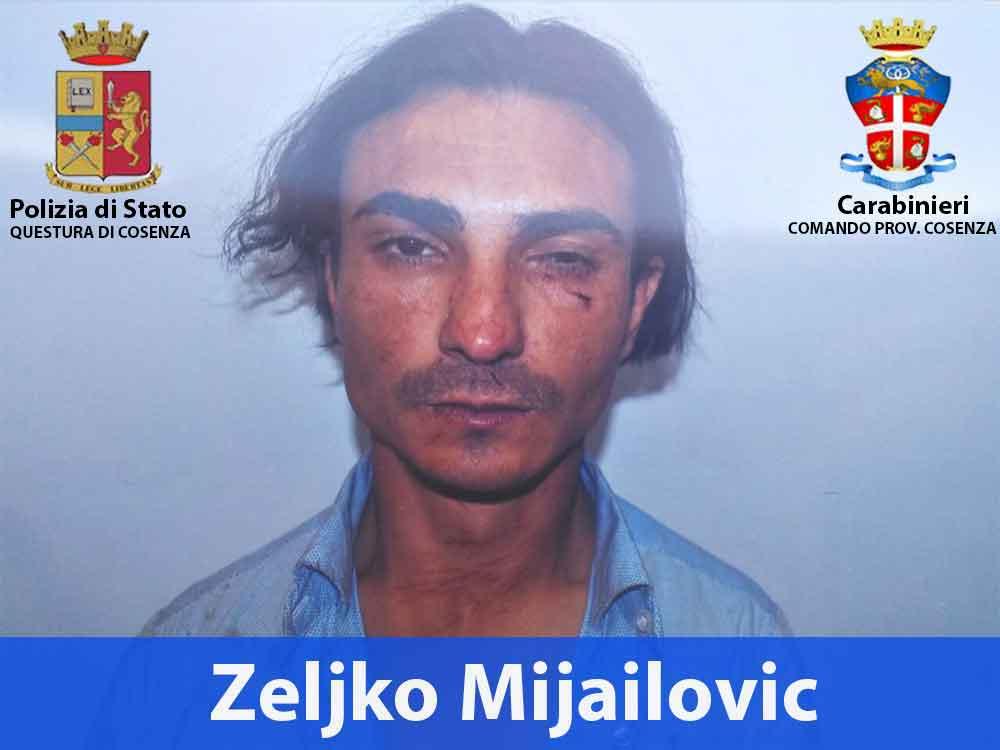 Zeljko Mijailovic arrestato dalla Polizia dopo inseguimento coi Carabinieri di Rende