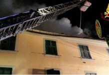 abitazione in fiamme Casella morto Giuseppe Fraietta