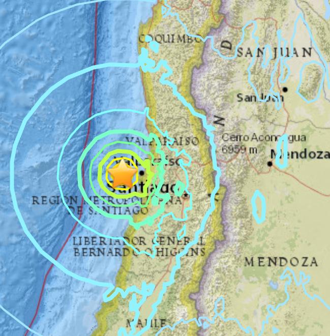 Terremoto Cile Oggi: Scossa di Mangnitudo 6.9
