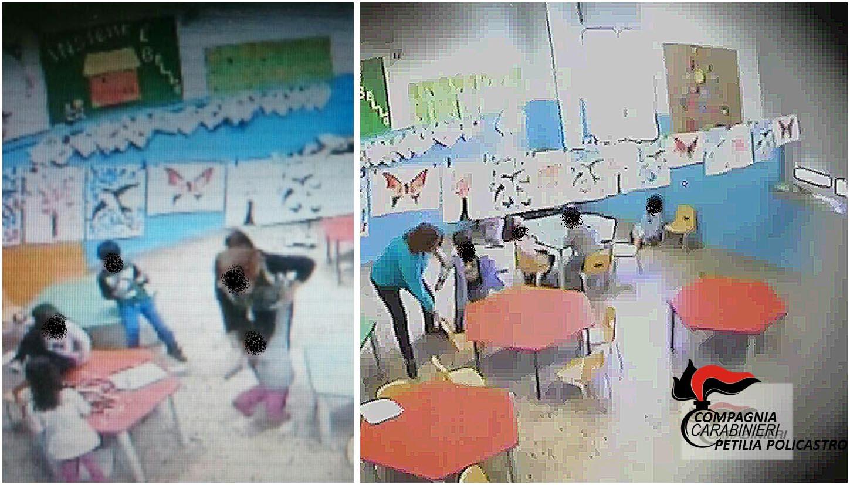 Crotone, calci e schiaffi a bambini: sospese due maestre d'asilo