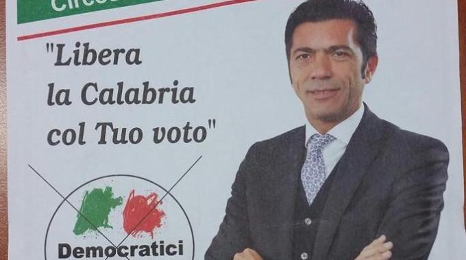 Arturo Bova in un manifesto elettorale per le regionali del 2014