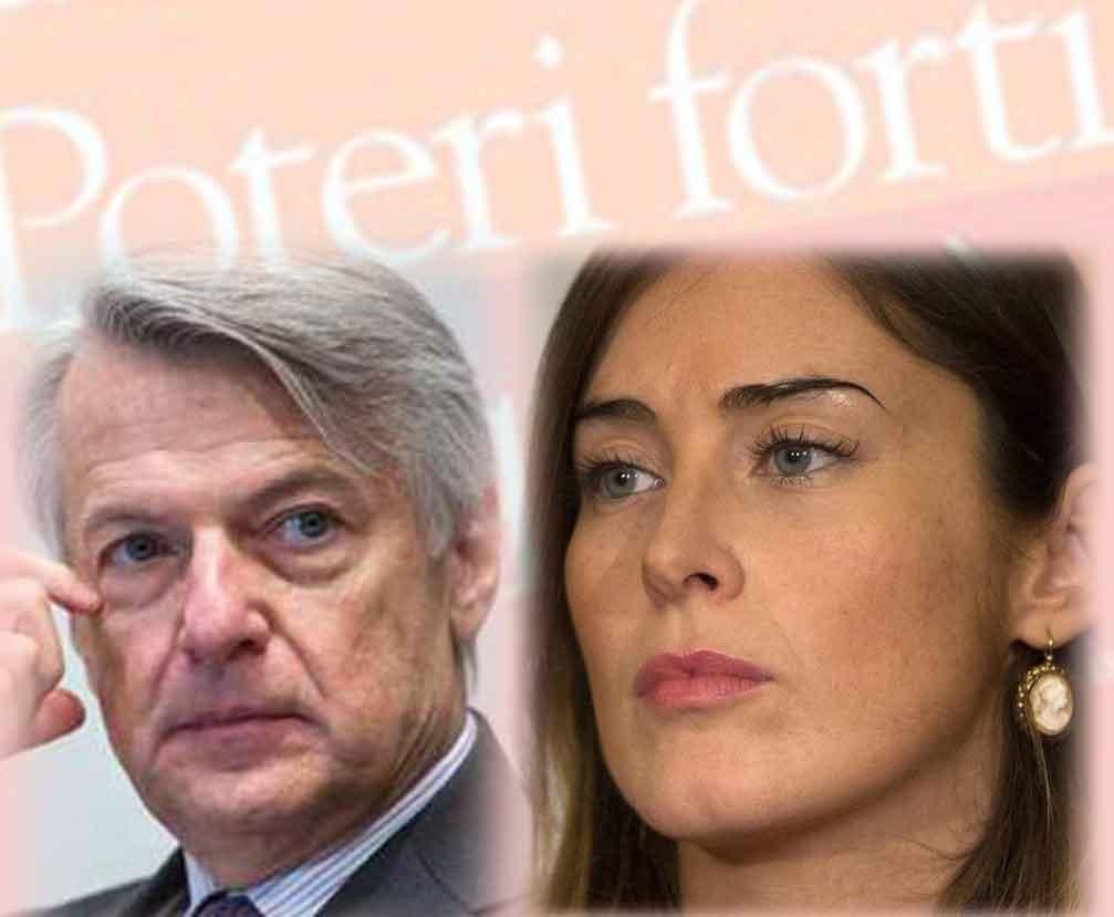 Ferruccio De Bortoli e Maria Elena Boschi