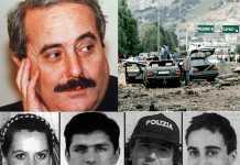 Giovanni Falcone, la moglie e gli agenti della scorta morti nella strage di Capaci
