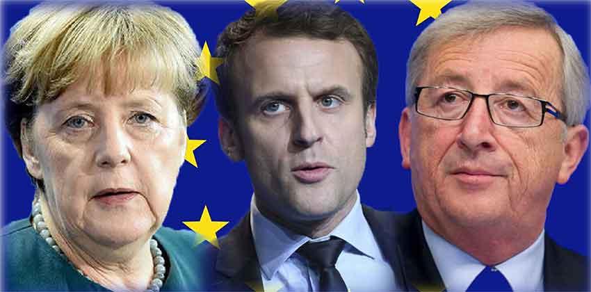 Merkel, Macron e Junker