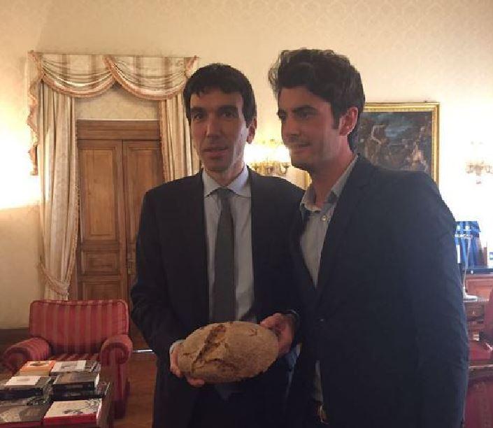 Ministro Maurizio Martina con Stefano Caccavari