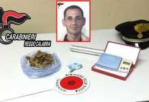 Nel riquadro Youssef Rachid e la droga sequestrata dai carabinieri