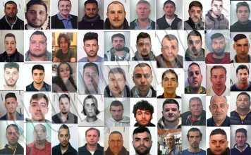 I soggetti coinvolti nell'operazione di Lamezia Terme il 23 maggio 2017