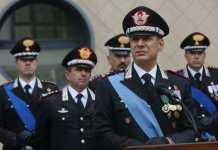 Il generale Vincenzo Paticchio, comandante della Legione carabinieri Calabria
