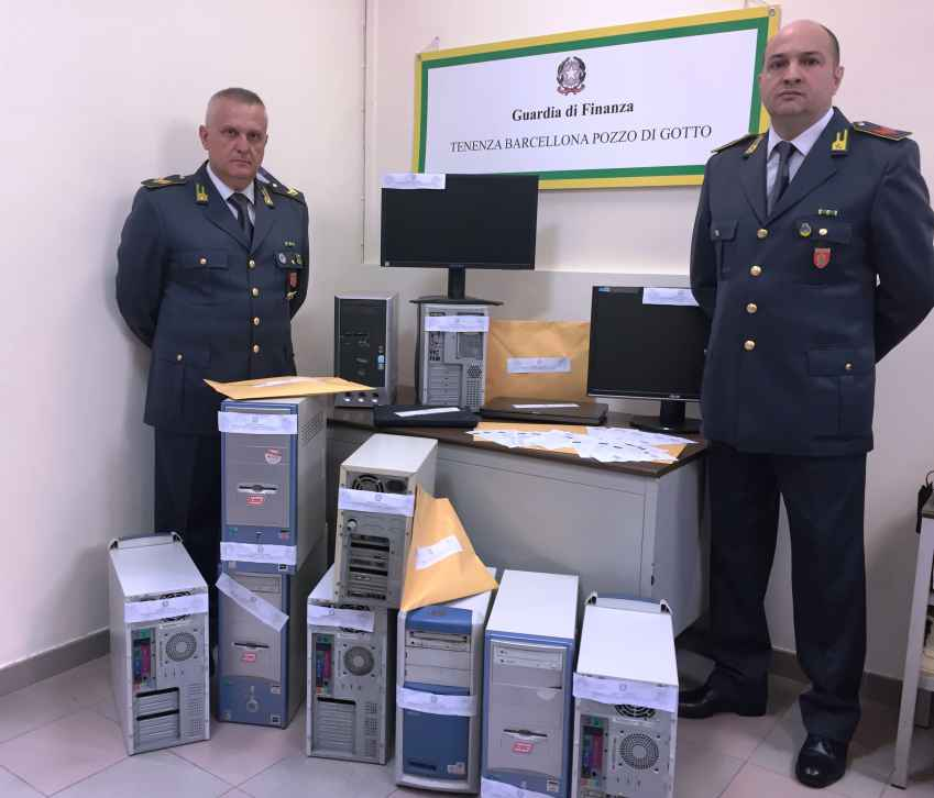 guardia di finanza computer centri scommesse