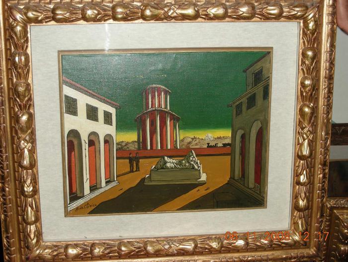 ''Piazza d'Italia'', un quadro di Giorgio De Chirico confiscato a Gioacchino Campolo