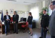 Il Procuratore Mario Spagnuolo, il Questore Giancarlo Conticchio e i funzionari della Questura di Cosenza
