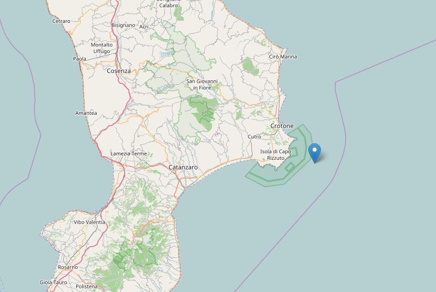 Terremoto vicino a Isola Capo Rizzuto: magnitudo 3.0