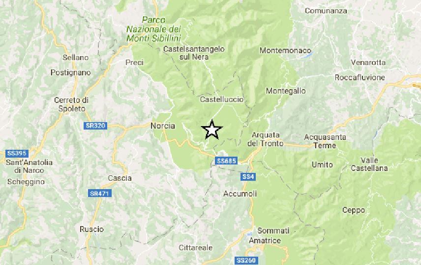 Terremoto oggi Umbria: lieve scossa magnitudo 2 a Norcia, provincia di Perugia