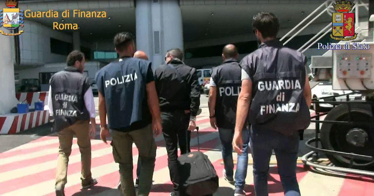 L'arresto del latitante Bruno Crisafi a Fiumicino