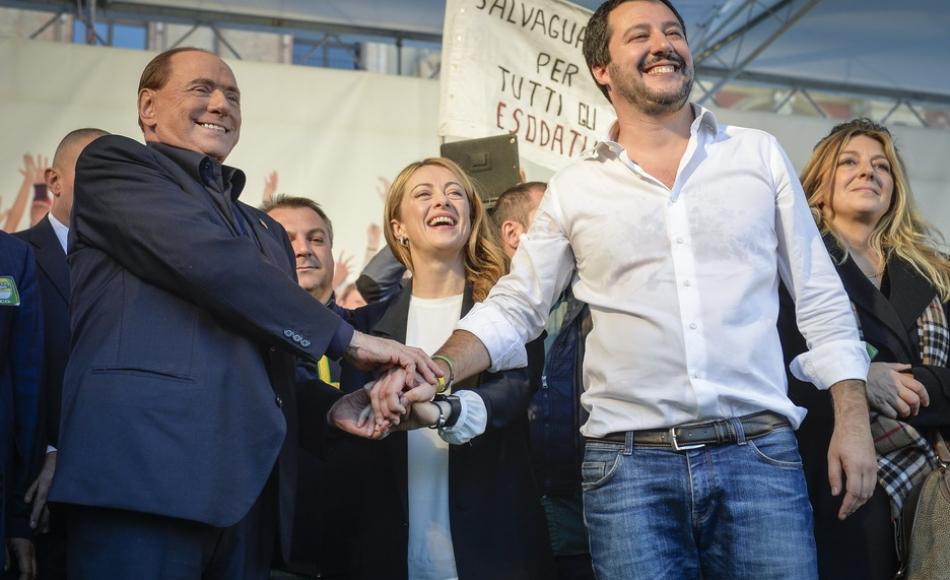 Berlusconi Salvini Meloni