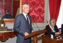 Il Presidente del Kosovo, Hashim Thaçi, alla Provincia di Cosenza