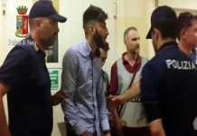 Serif Seferovic durante il fermo della Polizia