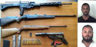 armi e arrestati Reggio Calabria