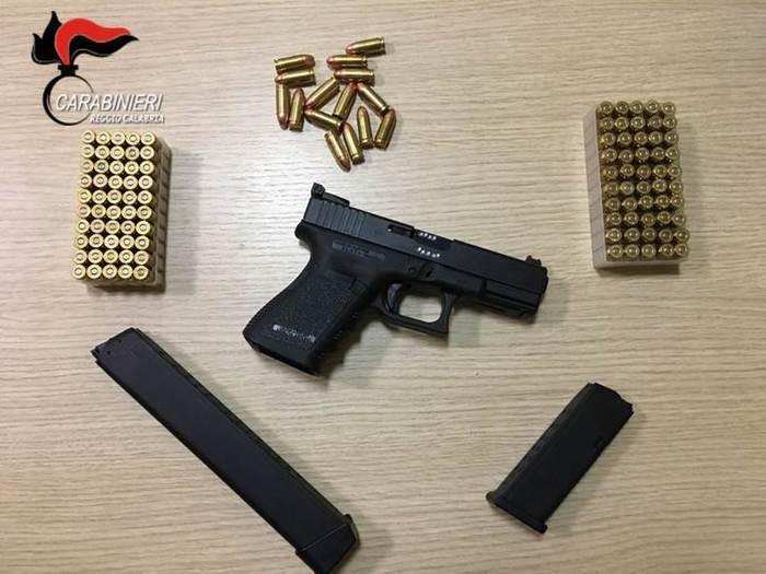 L'arma e le munizioni detenute illegalmente