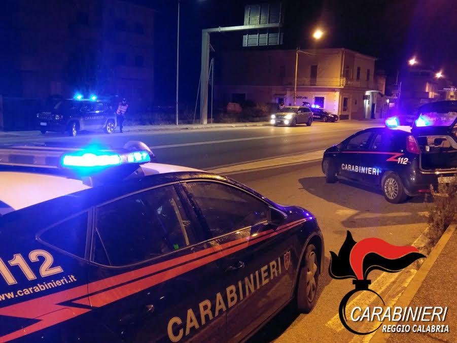 carabinieri notte reggio calabria
