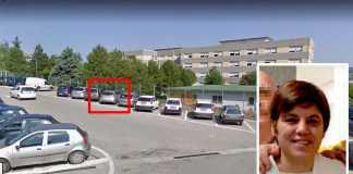 Nel riquadro rosso il luogo dell'omicidio da un'altra prospettiva. A destra la dottoressa Ester Pasqualoni