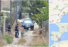 Il luogo dove è stato ucciso Giuseppe Nirta ad Aguilas , in Spagna